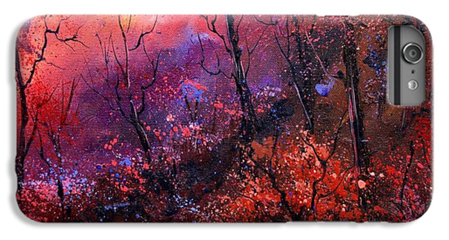 Wood Sunset Tree IPhone 6 Plus Case featuring the painting Unset In The Wood by Pol Ledent