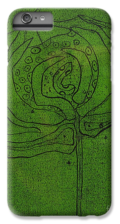Green IPhone 6 Plus Case featuring the painting Untitled by Angela Dickerson