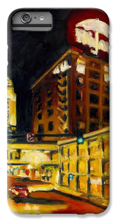 Rob Reeves IPhone 6 Plus Case featuring the painting Untitled In Red And Gold by Robert Reeves