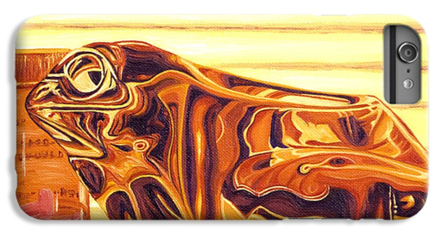 Frog IPhone 6 Plus Case featuring the painting Untitled by Judy Henninger