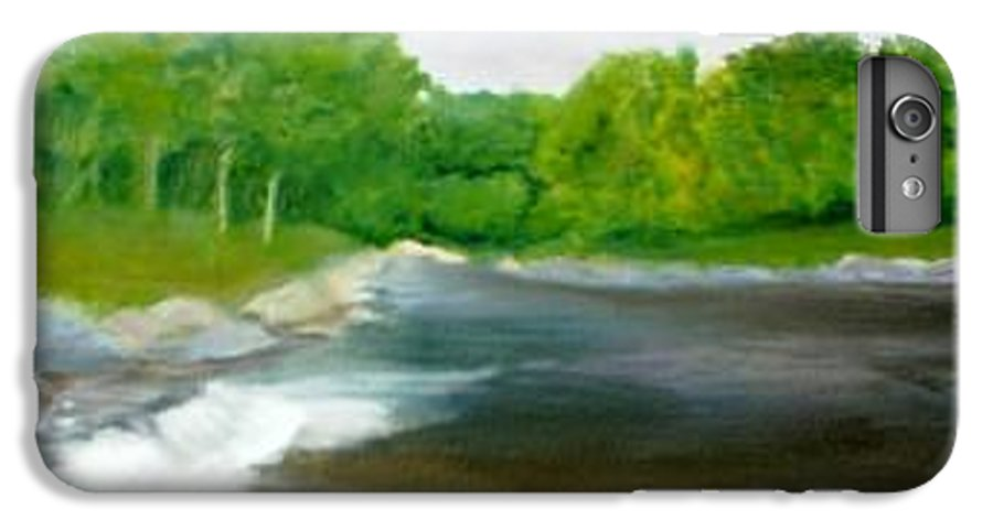 River IPhone 6 Plus Case featuring the painting Untitled Plein Aire by Sheila Mashaw