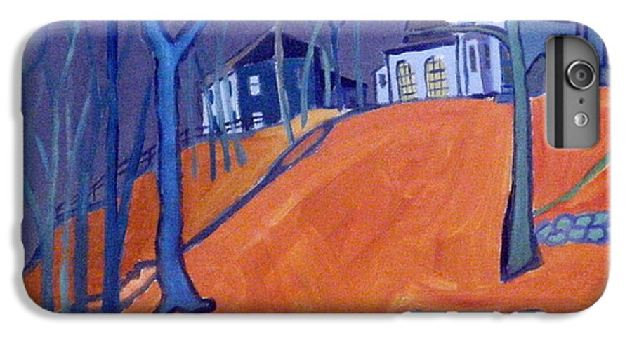 Houses On A Hill IPhone 6 Plus Case featuring the painting Up Above Dunstable by Debra Bretton Robinson