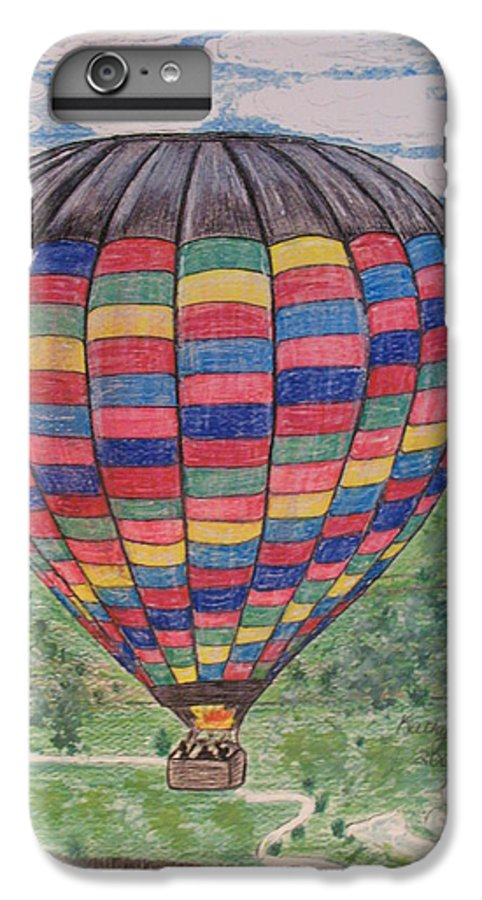 Balloon Ride IPhone 6 Plus Case featuring the painting Up Up And Away by Kathy Marrs Chandler