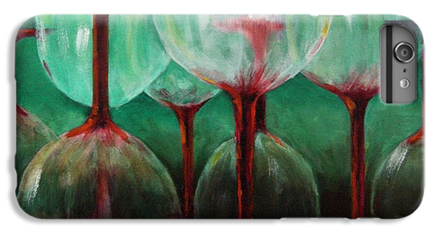 Oil IPhone 6 Plus Case featuring the painting Upsidedown by Linda Hiller