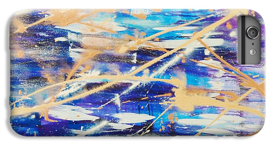 Abstract IPhone 6 Plus Case featuring the painting Urban Footprint by Lauren Luna