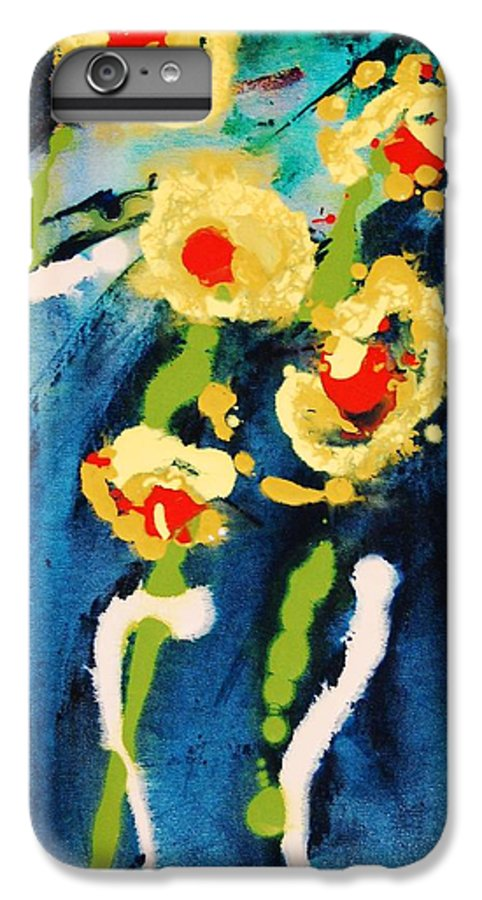 Abstract IPhone 6 Plus Case featuring the painting Urban Garden by Lauren Luna