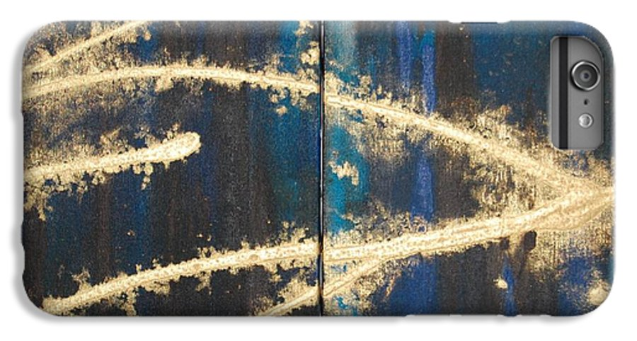 Night IPhone 6 Plus Case featuring the painting Urban Nightscape by Lauren Luna