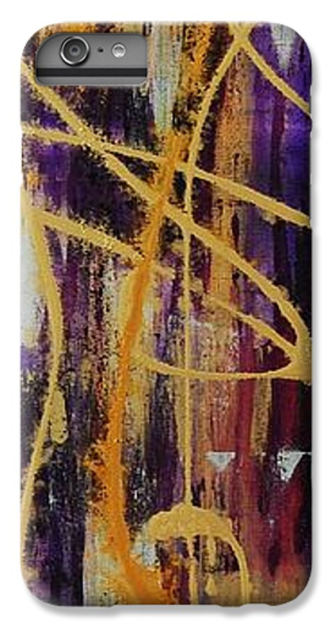 Abstract IPhone 6 Plus Case featuring the painting Urban Royality by Lauren Luna