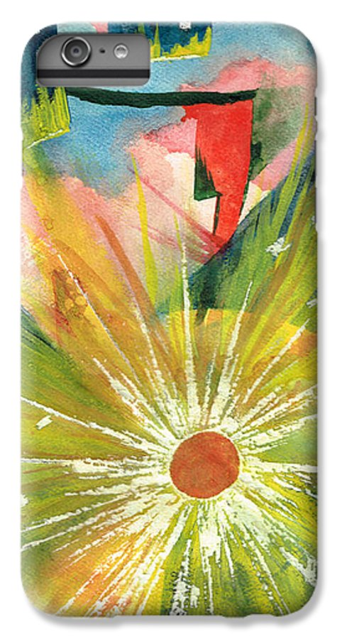 Downtown IPhone 6 Plus Case featuring the painting Urban Sunburst by Andrew Gillette