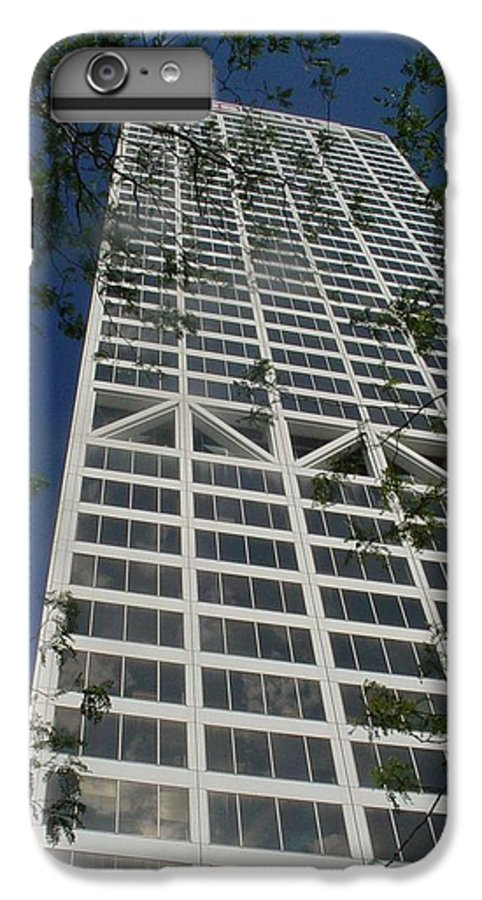 Us Bank IPhone 6 Plus Case featuring the photograph Us Bank With Trees by Anita Burgermeister
