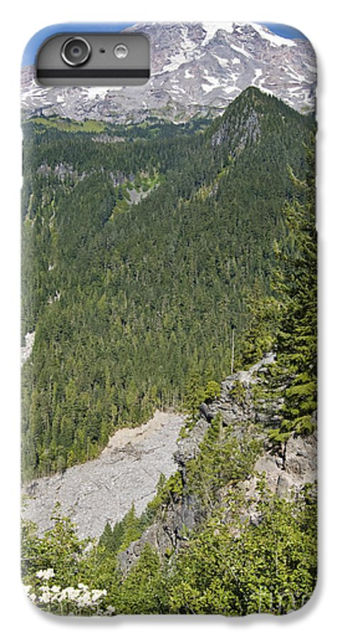 Mt. Rainier IPhone 6 Plus Case featuring the photograph Valley View Of Mt. Rainier by Larry Keahey