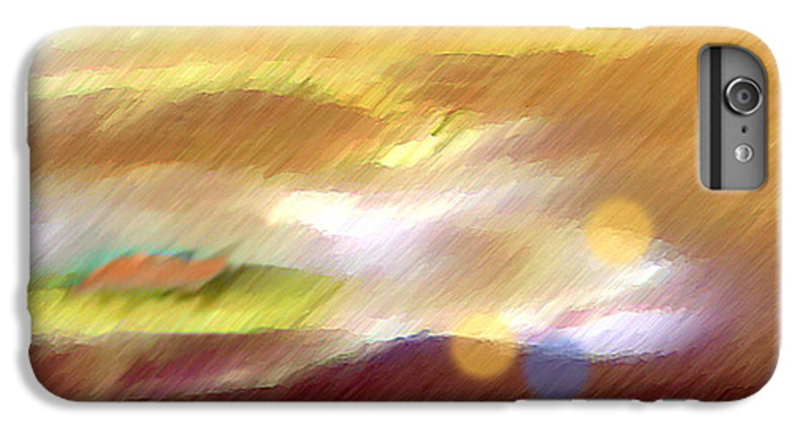 Landscape IPhone 6 Plus Case featuring the painting Valleylights by Anil Nene