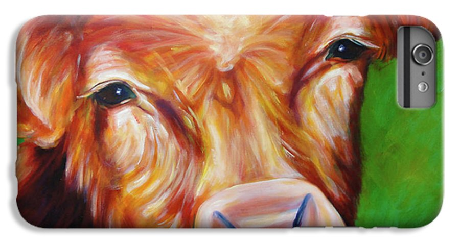 Bull IPhone 6 Plus Case featuring the painting Van by Shannon Grissom
