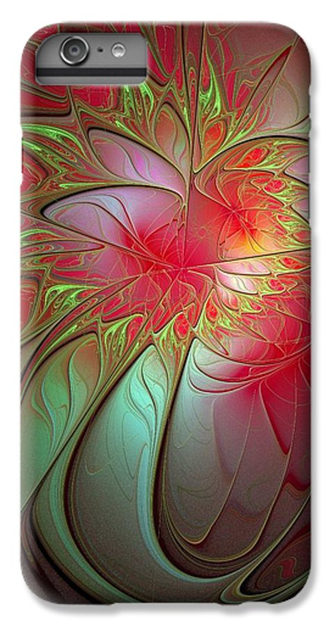 Digital Art IPhone 6 Plus Case featuring the digital art Vase Of Flowers by Amanda Moore