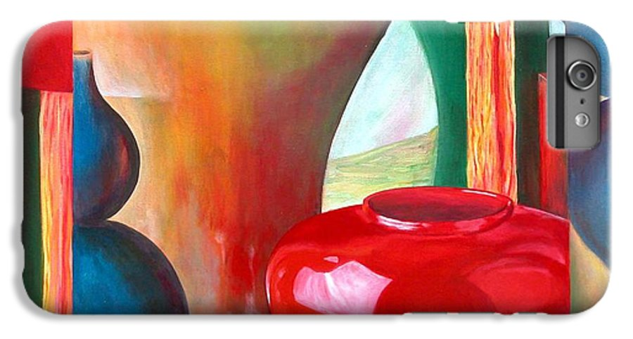 Still Life IPhone 6 Plus Case featuring the painting Vases by Muriel Dolemieux