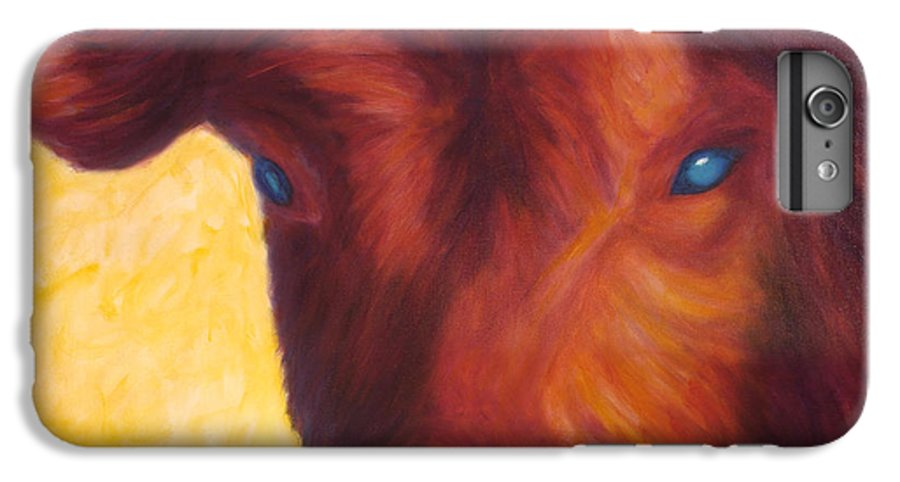 Bull IPhone 6 Plus Case featuring the painting Vern by Shannon Grissom
