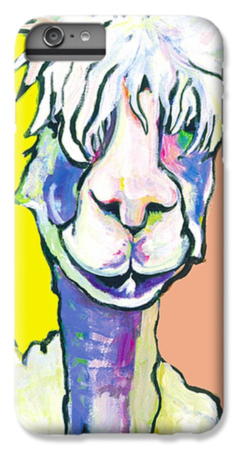 Mountain Animal IPhone 6 Plus Case featuring the painting Veronica by Pat Saunders-White