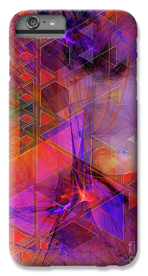 Vibrant Echoes IPhone 6 Plus Case featuring the digital art Vibrant Echoes by John Beck