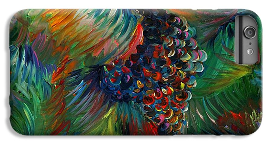 Grapes IPhone 6 Plus Case featuring the painting Vibrant Grapes by Nadine Rippelmeyer