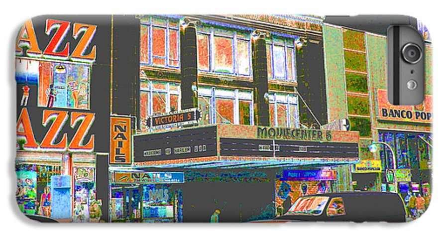 Harlem IPhone 6 Plus Case featuring the photograph Victoria Theater 125th St Nyc by Steven Huszar