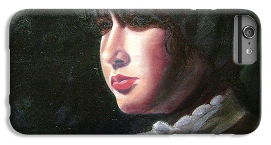 Girl In White Blouse IPhone 6 Plus Case featuring the painting Victorian Blouse by Toni Berry