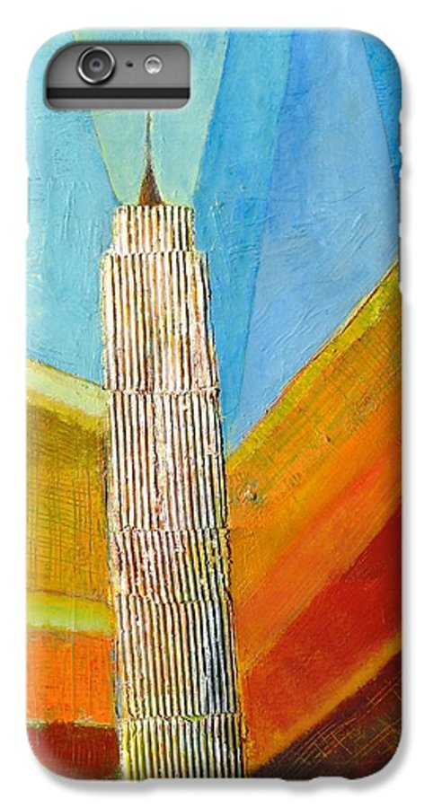 Abstract Cityscape IPhone 6 Plus Case featuring the painting View From 34th St by Habib Ayat