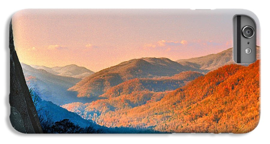 Landscape IPhone 6 Plus Case featuring the photograph View From Chimney Rock-north Carolina by Steve Karol