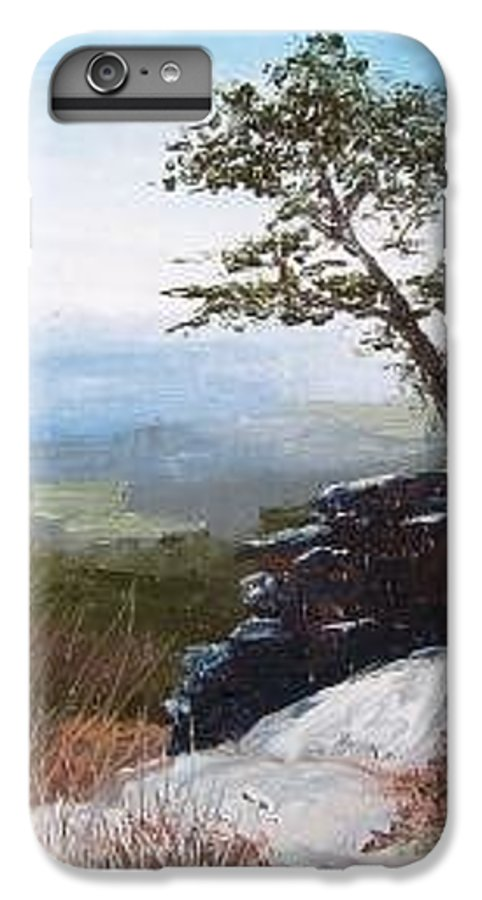 Landscape / Nature / Blue Ridge Mountains IPhone 6 Plus Case featuring the painting View From Pilot Mountain by Tami Booher