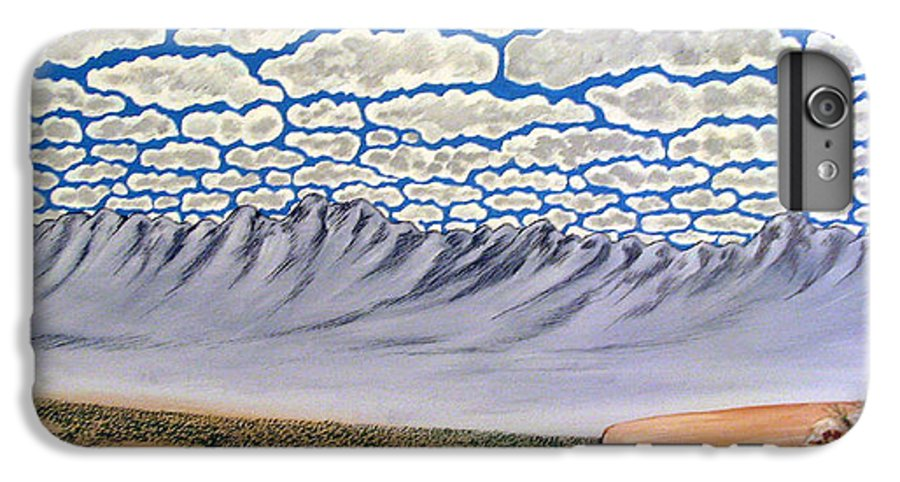 Desertscape IPhone 6 Plus Case featuring the painting View From The Mesa by Marco Morales