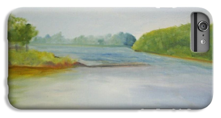 Delaware River IPhone 6 Plus Case featuring the painting View Of The Delaware by Sheila Mashaw