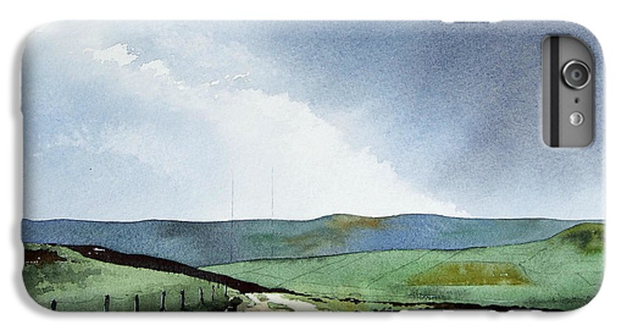 Landscape IPhone 6 Plus Case featuring the painting View Over Pole Moor by Paul Dene Marlor