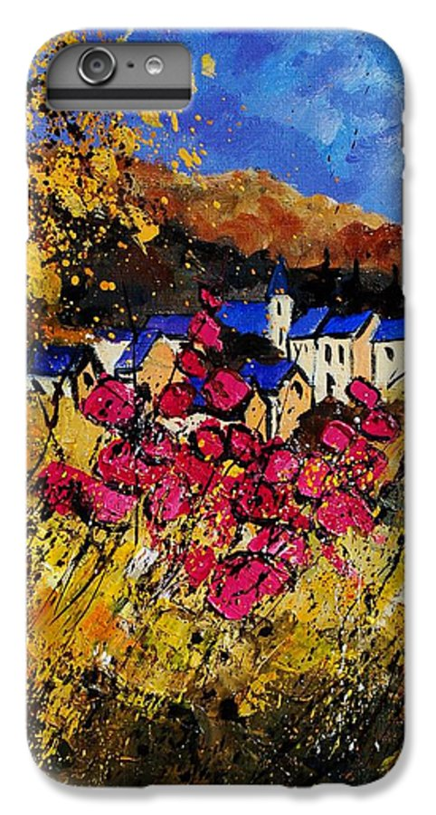 Flowers IPhone 6 Plus Case featuring the painting Village 450808 by Pol Ledent