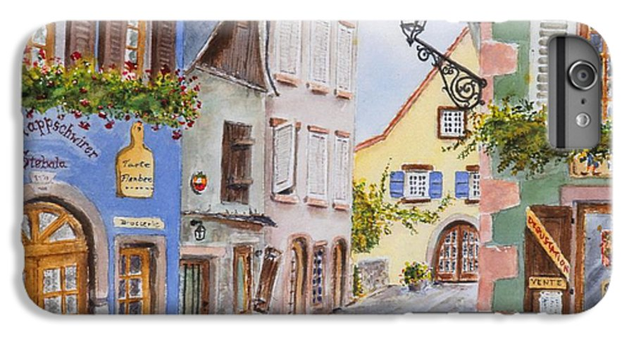 Village IPhone 6 Plus Case featuring the painting Village In Alsace by Mary Ellen Mueller Legault