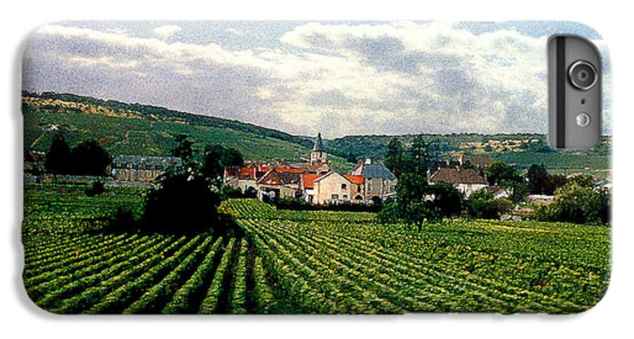 Vineyards IPhone 6 Plus Case featuring the photograph Village In The Vineyards Of France by Nancy Mueller