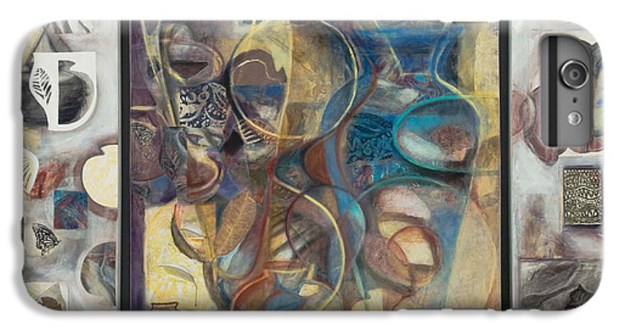 Vessels IPhone 6 Plus Case featuring the painting Visible Traces by Kerryn Madsen-Pietsch