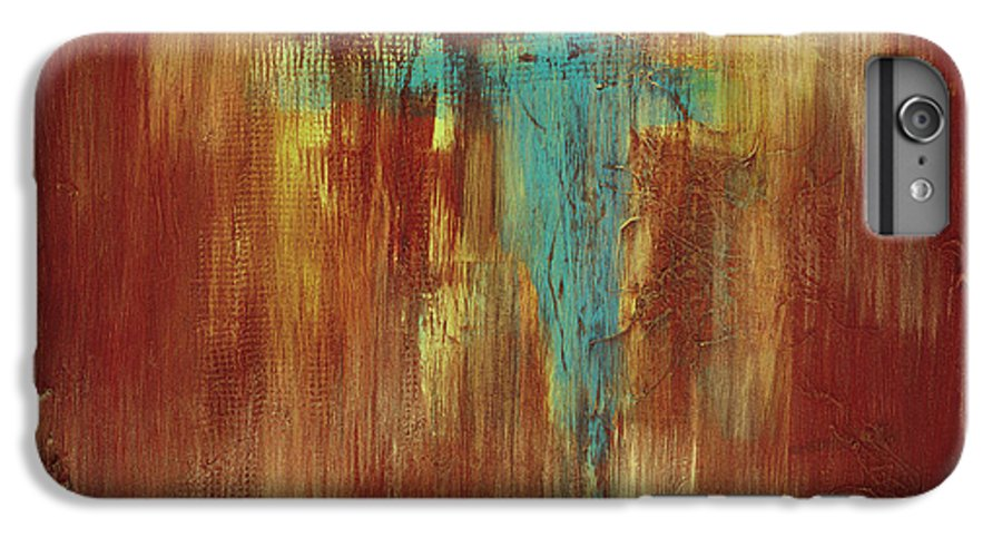 Abstract IPhone 6 Plus Case featuring the painting Vision Quest by Tara Moorman