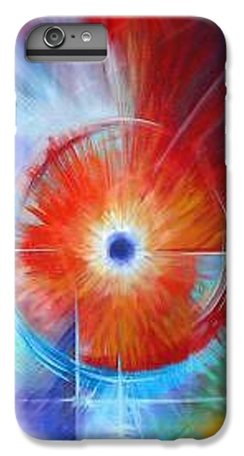 Clouds IPhone 6 Plus Case featuring the painting Vortex by James Christopher Hill