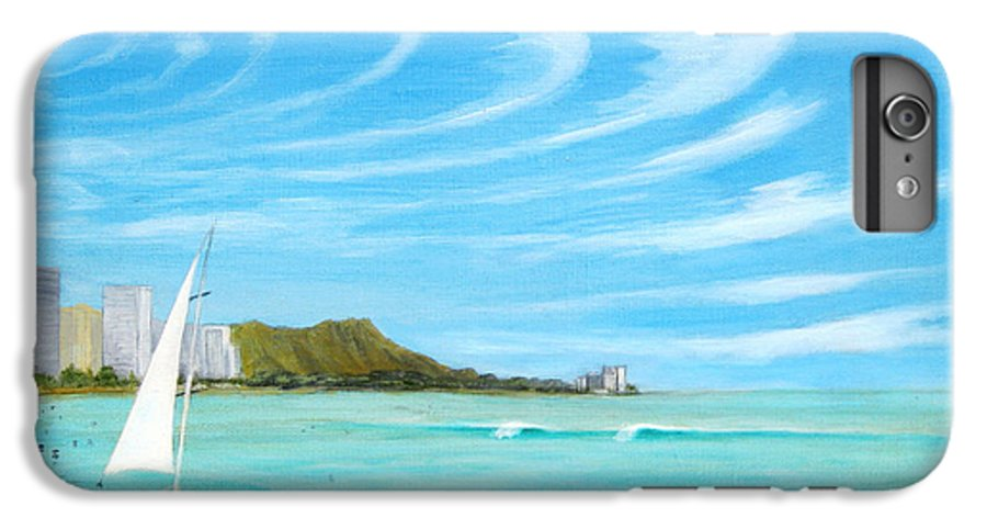 Waikiki IPhone 6 Plus Case featuring the painting Waikiki by Jerome Stumphauzer