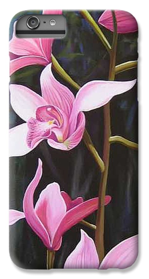 Orchids In Italy IPhone 6 Plus Case featuring the painting Waking Up In The Sun by Hunter Jay
