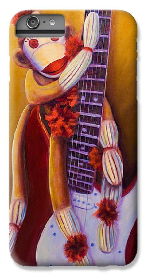 Monkey IPhone 6 Plus Case featuring the painting Wanna Be A Rocker by Shannon Grissom