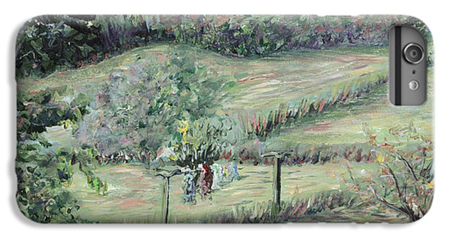 Landscape IPhone 6 Plus Case featuring the painting Washday In Provence by Nadine Rippelmeyer