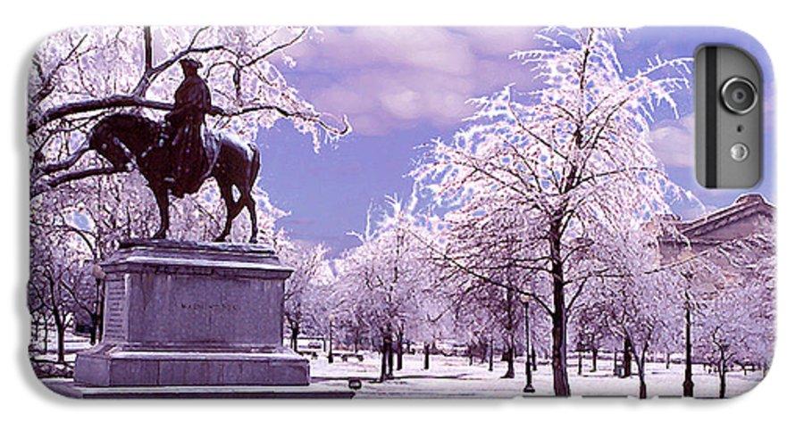 Landscape IPhone 6 Plus Case featuring the photograph Washington Square Park by Steve Karol
