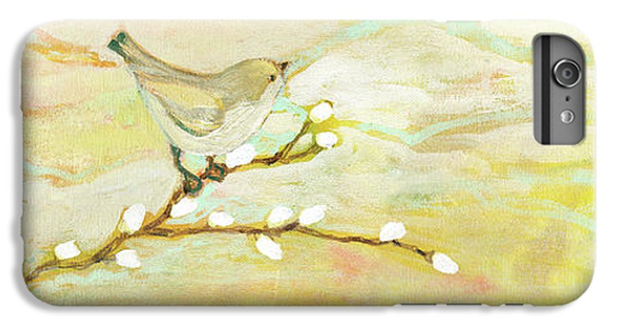 Bird IPhone 6 Plus Case featuring the painting Watching The Clouds No 3 by Jennifer Lommers