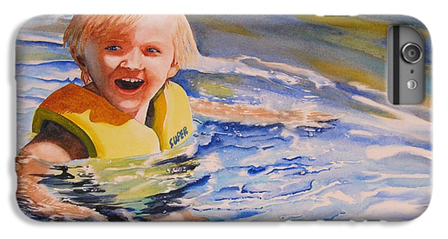 Swimming IPhone 6 Plus Case featuring the painting Water Baby by Karen Stark