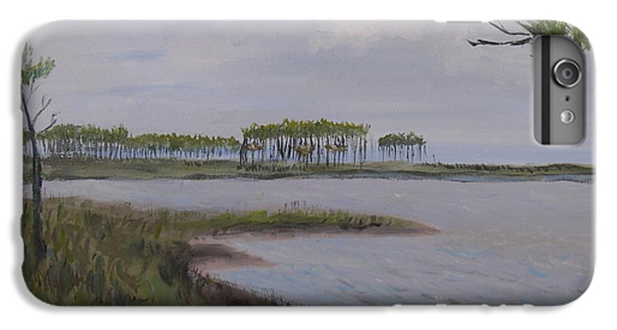 Landscape Beach Coast Tree Water IPhone 6 Plus Case featuring the painting Water Color by Patricia Caldwell