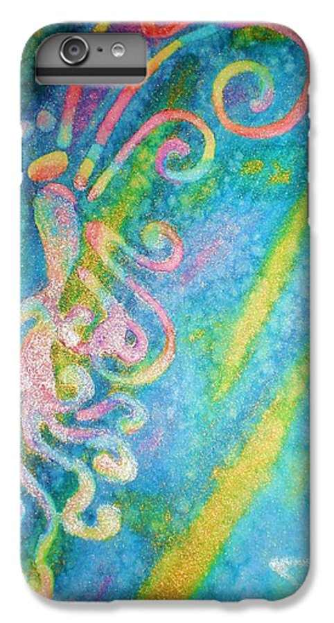 Rainbow IPhone 6 Plus Case featuring the painting Water Fairy by Chandelle Hazen