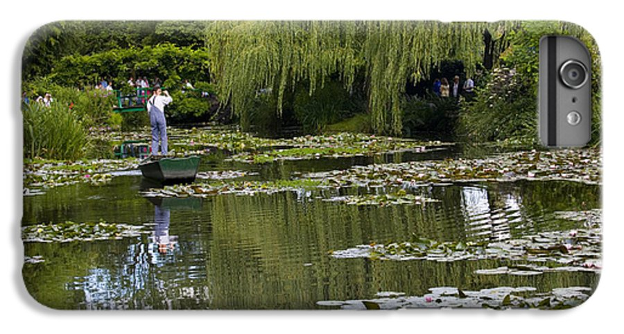 Monet Gardens Giverny France Water Lily Punt Boat Water Willows IPhone 6 Plus Case featuring the photograph Water Lily Garden Of Monet In Giverny by Avalon Fine Art Photography