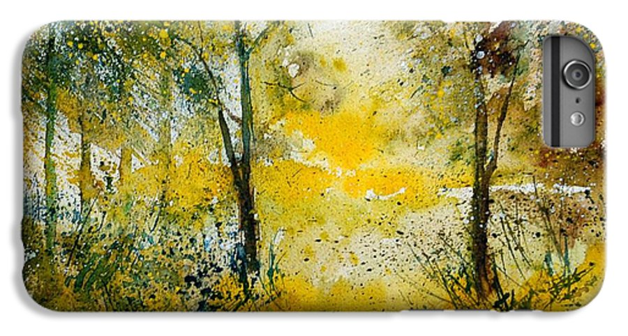 River IPhone 6 Plus Case featuring the painting Watercolor 210108 by Pol Ledent