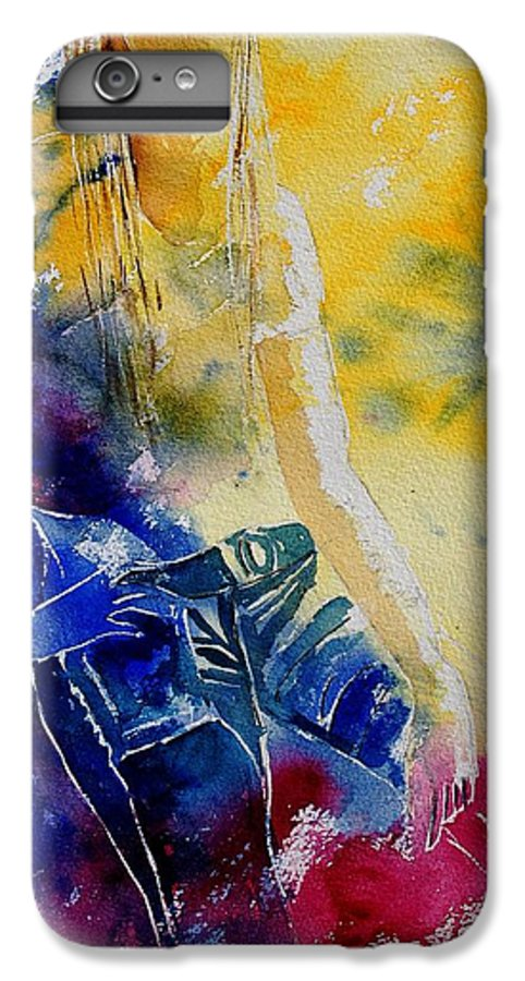 Girl Nude IPhone 6 Plus Case featuring the painting Watercolor 21546 by Pol Ledent