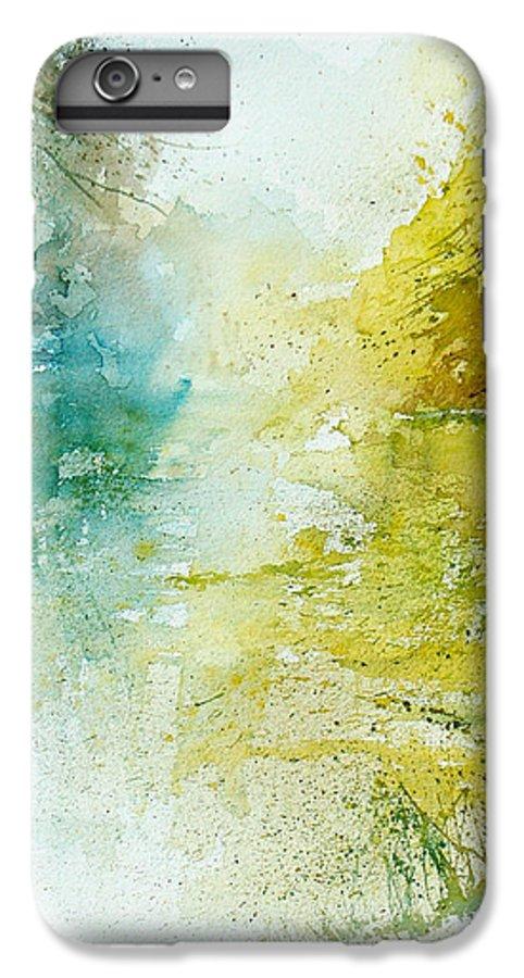 Pond Nature Landscape IPhone 6 Plus Case featuring the painting Watercolor 24465 by Pol Ledent